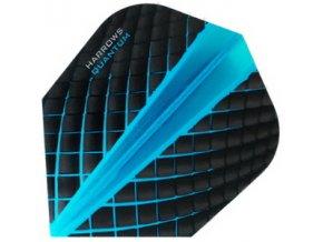 Letky QUANTUM standard black/aqua blue