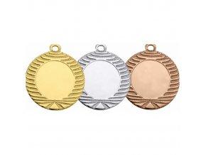 Medaile C9132 zlatá,stříbrná,bronzová