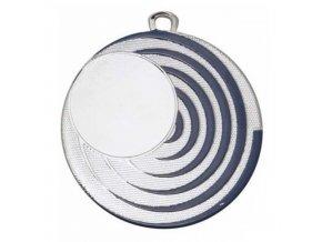 Medaile C9134 stříbrná/modrá