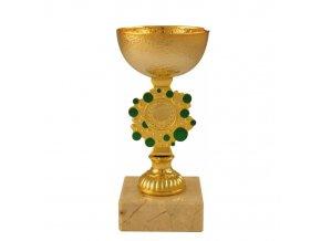 Pohár CPE053 zlatý/zelený