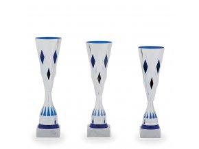 Pohár C11017 stříbrný/modrý