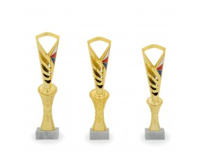 Pohár C11028 zlatý/Trikolora