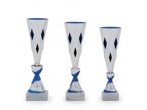 Pohár C11049 stříbrný/modrý