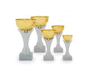 Pohár C13805 stříbrný/ zlatý