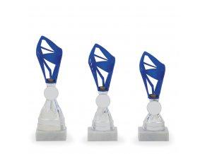 Pohár C13062 modrý/stříbrný