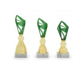 Pohár C13061 zelený/zlatý