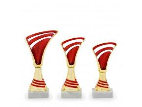 Pohár C13077 zlatý/červený