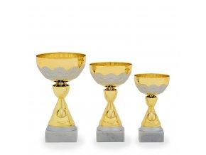 Pohár C13088 zlatý/stříbrný
