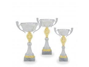 Pohár C13722 stříbrný/zlatý