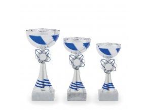 Pohár C13102 stříbrný/modrý