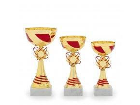Pohár C13103 zlatý/červený