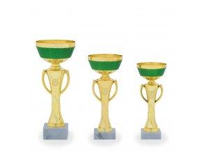 Pohár C13150 zlatý/zelený