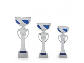 Pohár C13158 stříbrný/modrý