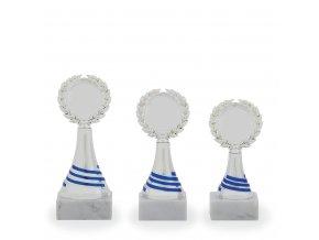 Trofej C16818 stříbrná/modrá