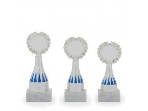 Trofej C16802 stříbrná/modrá