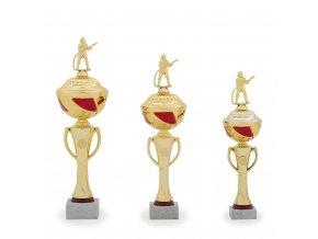 Trofej C12026 zlatá/červená