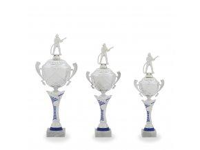 Trofej C12029 stříbrná/modrá