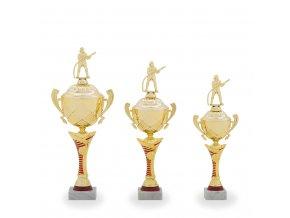 Trofej C12030 zlatá/červená