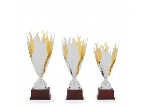 Trofej C12033 hasiči zlatá/stříbrná
