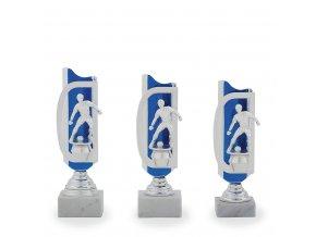 Trofej C12510 fotbal stříbrná/modrá