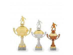 Trofej C12534 fotbal zlatá/stříbrná/bronzová