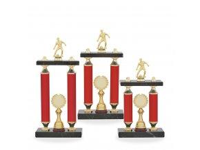 Trofej C12700 fotbal červený/zlatý