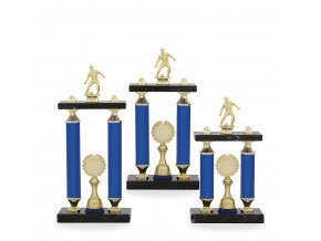 Trofej C12702 fotbal modrá/zlatá