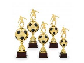 Trofej C12530 fotbal zlatá/černá