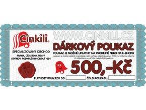 DÁRKOVÝ POUKAZ 500,