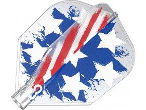 400072 8 FLIGHT NO 6 SHAPE USA FLAG CLEAR PRINT BOXED 2020 DYNAMIC