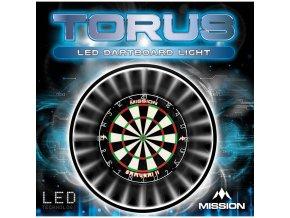 mission torus led dartboard light p1489 2217