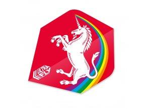 Letky Ultrafly standard UNICORN RAINBOW RED