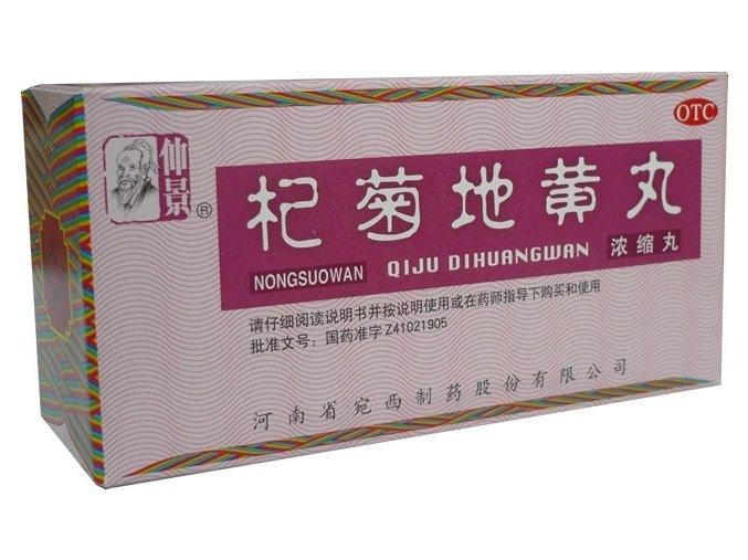 POSILNENIE ZRAKU A SLUCHU - QI JU DI HUANG WAN - WBO7.9 Henan Wanxi (Objem 200 ks)
