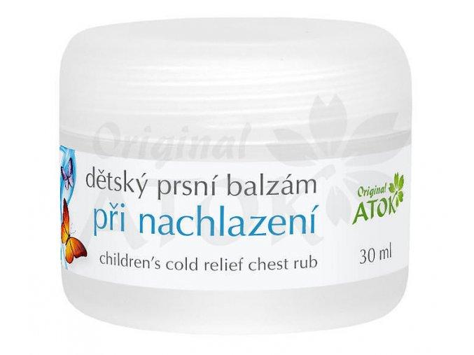 Detský hrudný balzam pri prechladnutí - Original ATOK (Obsah 30 ml)