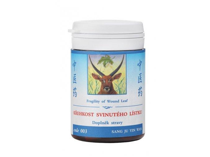 KREHKOSŤ ZVINUTÉHO LÍSTKU -SANG JU YIN WAN - TCM Herbs (Objem 100 tabliet / 30 g)