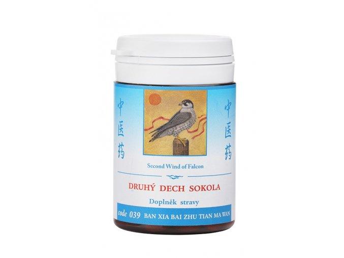 DRUHÝ DYCH SOKOLA - BAN XIA BAI TIAN MA WAN - TCM Herbs (Objem 100 tabliet / 30 g)