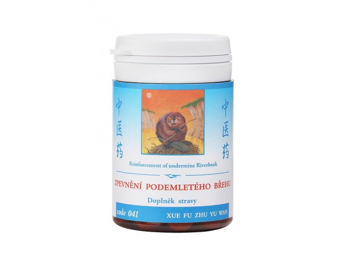 SPEVNENIE PODOMLETÉHO BREHU - XUE FU ZHU YU WAN - TCM Herbs (Objem 100 tabliet / 30 g)