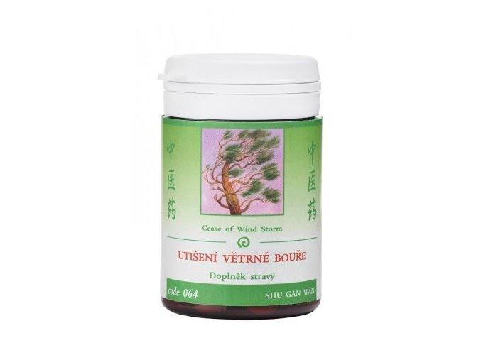 STÍŠENIE VETERNEJ BÚRKY - SHU GAN WAN  - TCM Herbs (Objem 100 tabliet / 30 g)