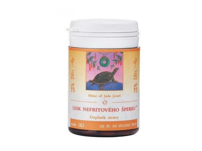 LESK NEFRITOVÉHO ŠPERKU - QI JU DI HUANG WAN - TCM Herbs (Objem 100 tabliet / 30 g)