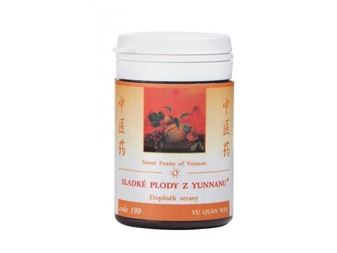 SLADKÉ PLODY Z YUNNANU - YU QUAN WAN - TCM Herbs (Objem 200 tabliet / 36 g)