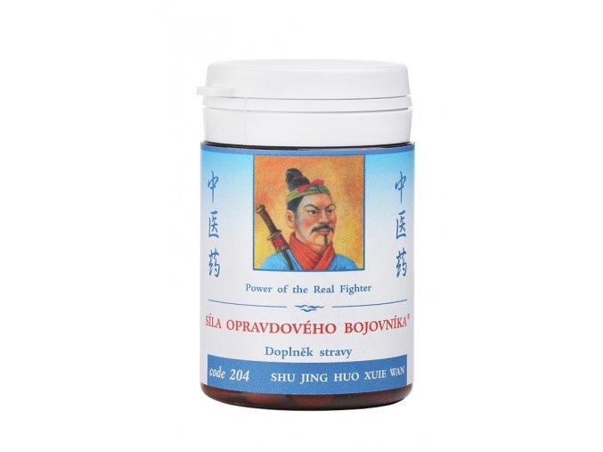 SILA OZAJSTNÉHO BOJOVNÍKA - SHU JING HUO XUE WAN -TCH Herbs (Objem 100 tabliet / 30 g)