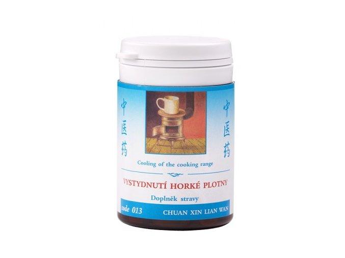 VYCHLADNUTIE HORÚCEJ PLATNE - CHUAN XIN LIAN WAN - TCM Herbs (Objem 100 tabliet / 30 g)