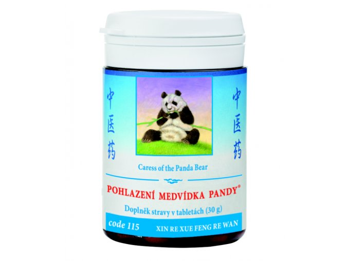 POHLADENIE MEDVEDÍKA PANDY - XIN/XUE RE FENG WAN mod. - TCM Herbs (Objem 100 tabliet / 30 g)