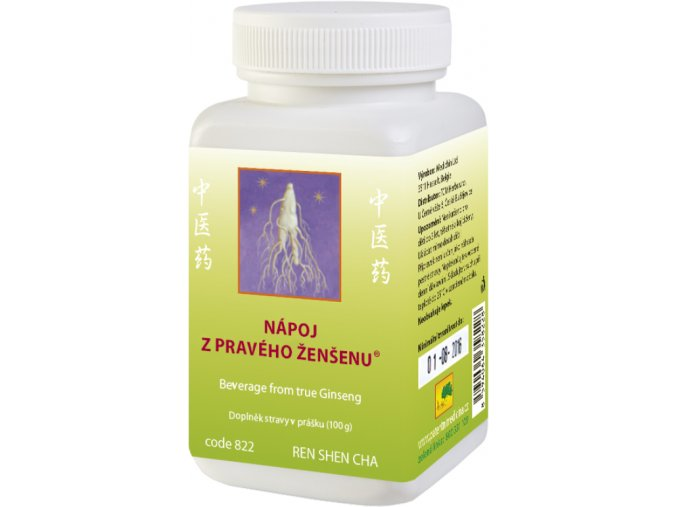 Nápoj z pravého ženšena® - Ren shen cha - TCM Herbs (Objem 100 g)