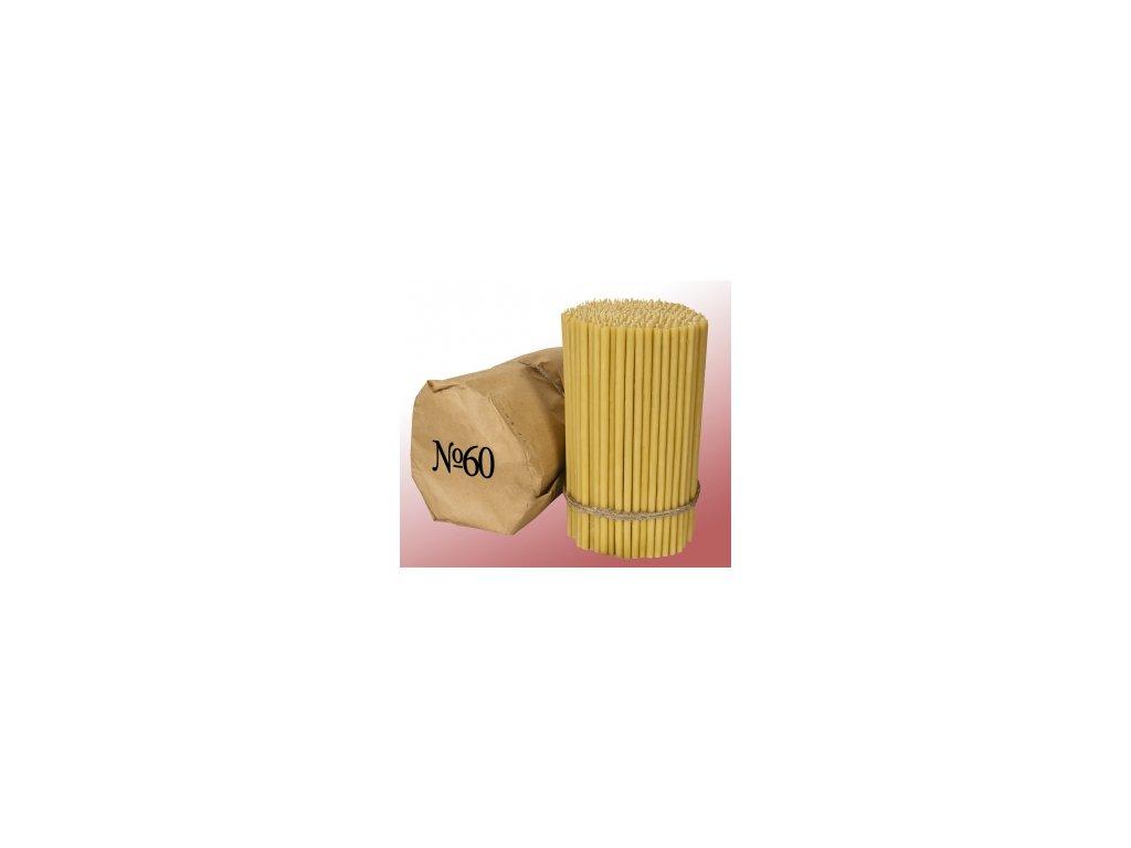 Parafínové sviečky no60