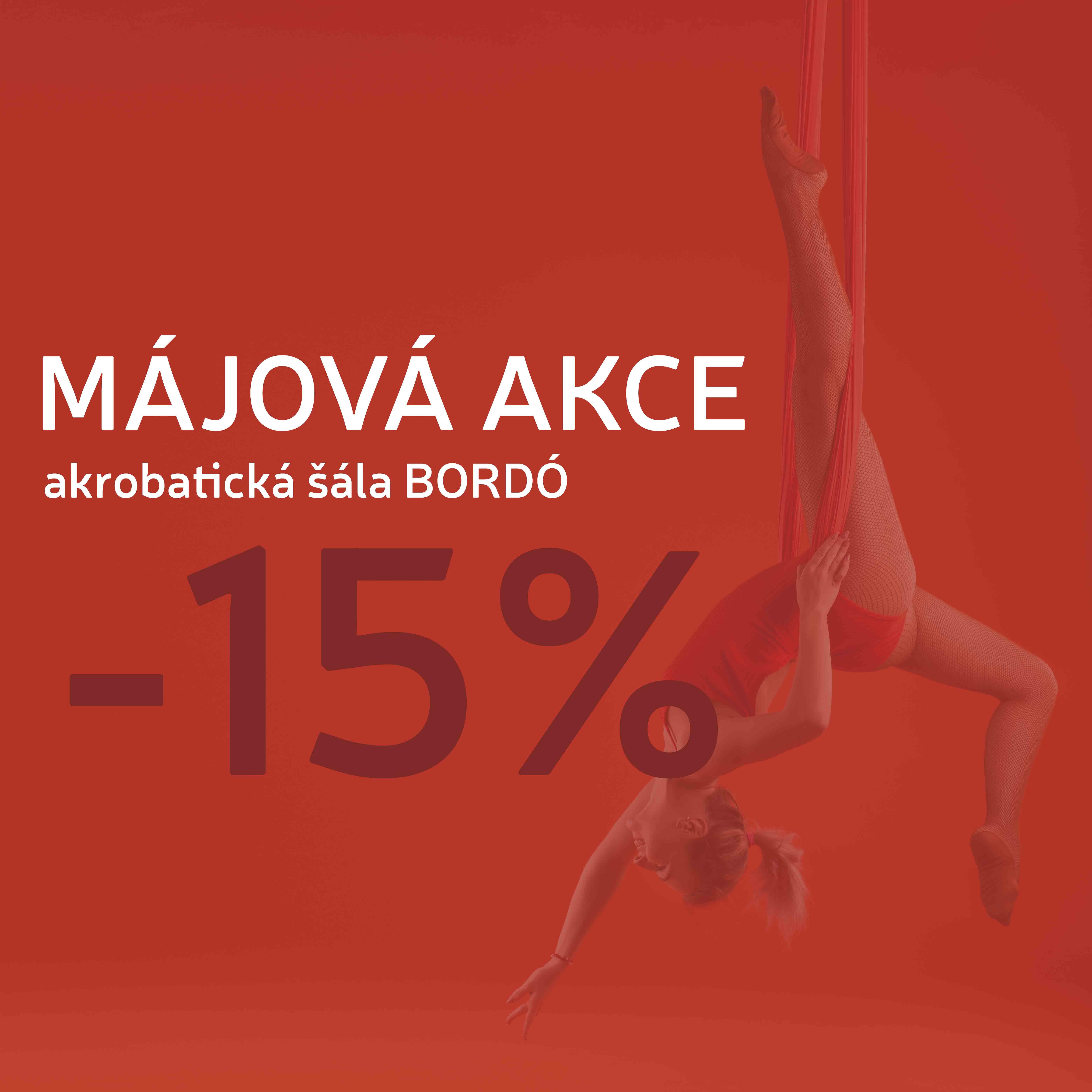 Bílá akrobatická šála / Vánoční AKCE