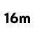 16 metrů