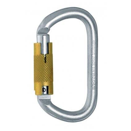 Oválná karabina ocel | triple lock