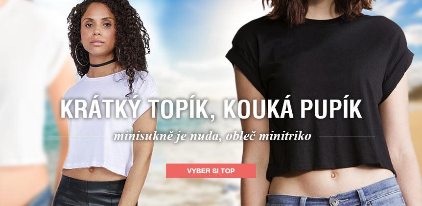 """Dámské organické tričko do pasu """"Crop-top"""""""