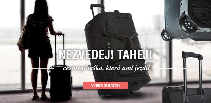 Praktická cestovní taška na kolečkách